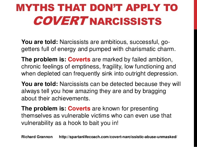 "QUESTION: ""Is it possible that a covert narcissist will play a never"