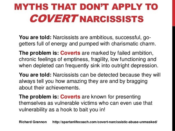What qualities make a person a covert narcissist? Answered by Debra